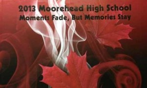 The front cover of Moorhead HS's 2013 Yearbook.